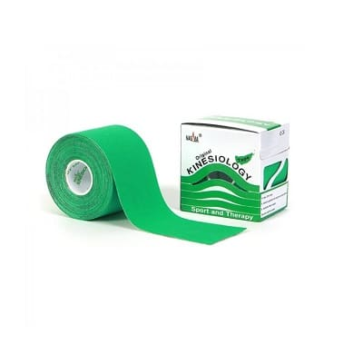 Nasara Kinesiologie tape groen 500 x 5 cm