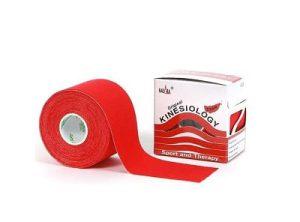 Nasara Kinesiologie tape rood 500 x 5 cm
