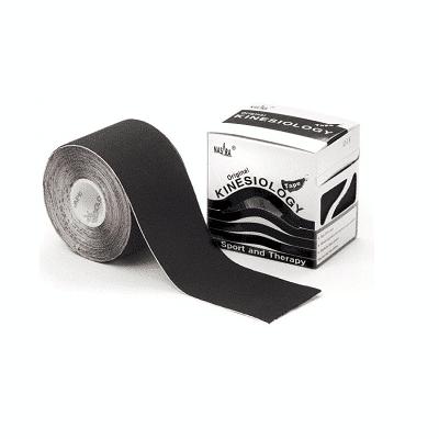 Nasara Kinesiologie tape zwart 500 x 5 cm